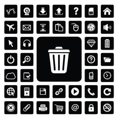 website technology icon set
