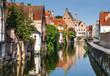 Bruges canal, Flanders, Belgium - 69483504
