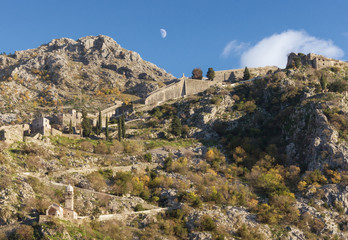 Road to old fortress. Kotor city, Montenegro