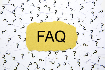 Frequently asked question ( FAQ ) concept for website service
