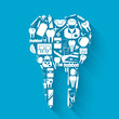 Tooth stomatology concept