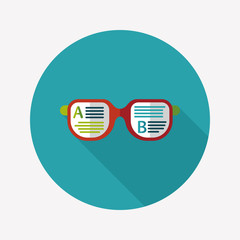 Learning flat icon with long shadow,eps10