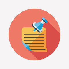note paper flat icon with long shadow,eps10