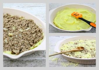 montage,plat de hachis parmentier,recette