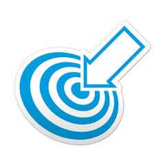 Pegatina simbolo target