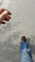 Zu Fuß unterwegs