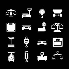 Set icons of weights and scales