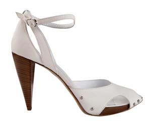 white shoe isolated on white