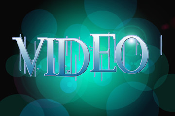 Video word on vintage bokeh background, concept sign