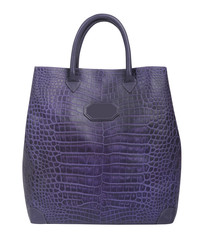 violet handbag isolted on white