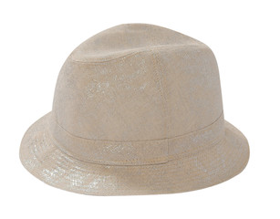 gray hat isolated on white