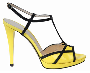 yellow shoe isolated on white