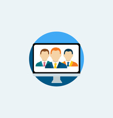 Icon for website and mobile application. Business.