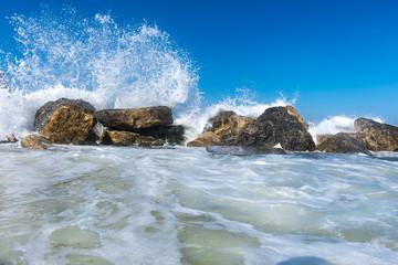 sea waves on the rocks