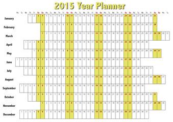 2015 Year Planner