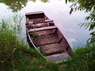 Fisherman's boat washed ashore