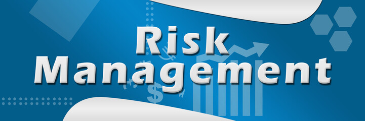 Risk Management Blue Background