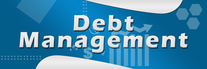 Debt Management Blue Background