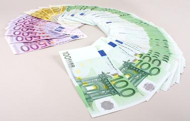 Euroscheine, fächer