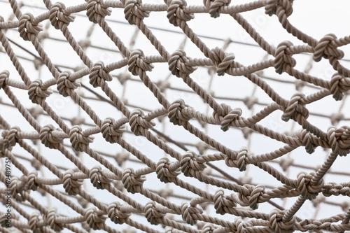 Leinwandbild Motiv Yacht Safety Net