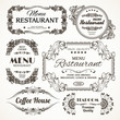 Floral restaurant labels