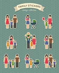 Set of color family icons