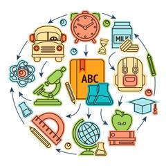 Education icons illustation