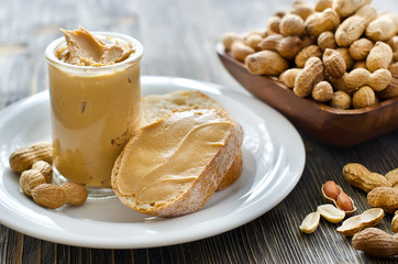 Peanut butter creamy with peanuts