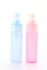 Plastic spray bottle isolated on white background