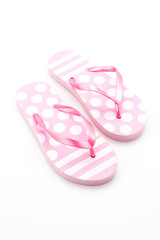 Flip flop fashion plastic shoes isolated on white background