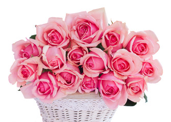 bunch  of fresh pink roses