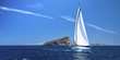 Yacht in sailing regatta. Luxury yachts.