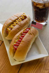 Hot dogs and Cola