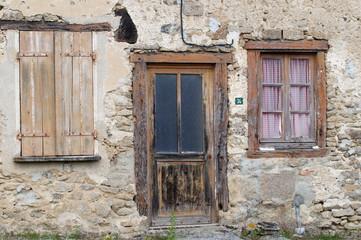 vieille facade de maison