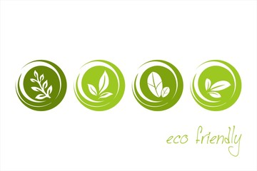 leaves, icons , nature, Eco friendly business logo