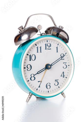 Leinwanddruck Bild mechanical alarm clock