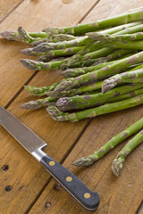Fresh cut seasonal asparagus