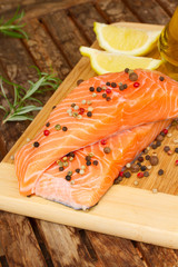 cooking salmon steak