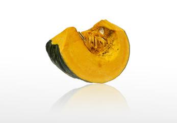 Isolated a half of big pumpkin