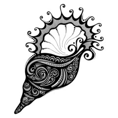 Vector Abstract Sea Shell. Patterned design