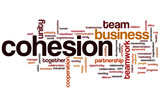 Cohesion word cloud poster