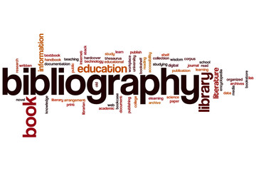 Bibliography word cloud