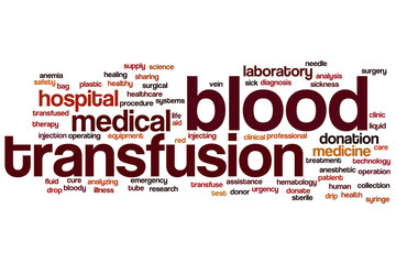 Blood transfusion word cloud