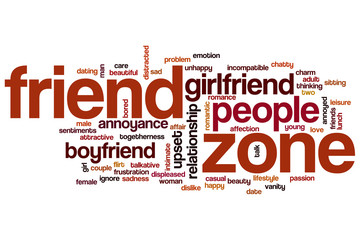 Friend zone word cloud