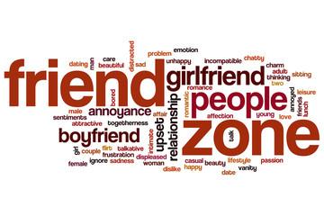 Friend zone word cloud