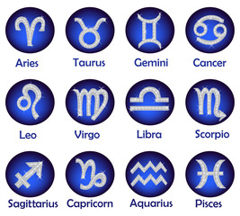 Horoscope icons set