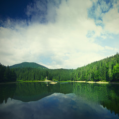 Carpathian mountain lake