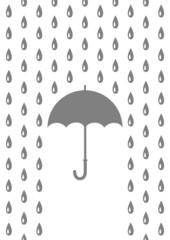 Umbrella in rain