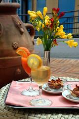 aperitivo in giardino