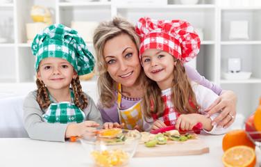 Happy chefs in the kitchen